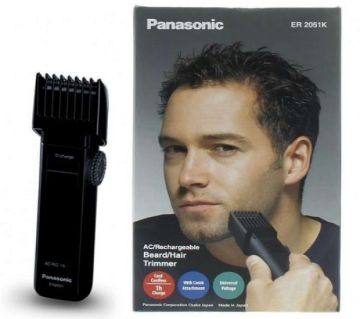 Panasonic ER 2031k Corded & Cordless Trimmer for Men (Black)