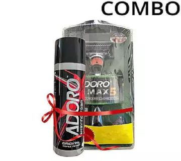 Combo of Max 5 System Razor and Shaving Foam - 200ml