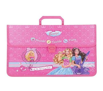 Beautiful Documents Carrier Bag for Girls - Pink