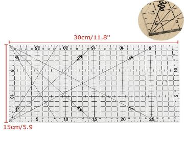 Buy more get more promotion---30x15cm Quilting Sewing Patchwork Foot Aligned Ruler Grid Tailor Craft Scale