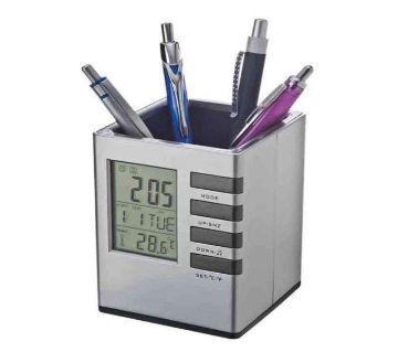 Pen Holder With Digital Watch