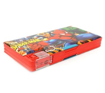 Spider Man Plastic Pencil Box - Red and Black