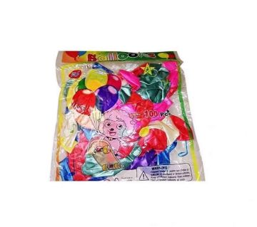 100 pieces packet latex china balloon mixed colours