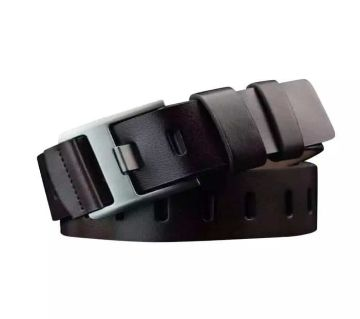 Black Artificial Leather Belt for Men.