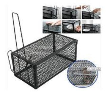 Reusable Rodent Animal Mouse Live Trap Cage