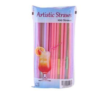 Artistic Straws - 100pcs (Multicolor)