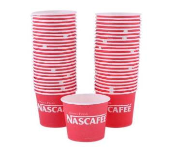 Disposable Coffee Cup - 150ml - 50pcs (Red)