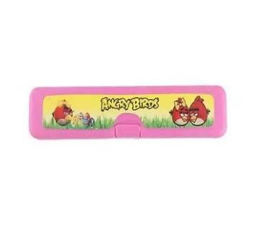 Angry Birds Pencil Box (Small) - Pink (4pcs)