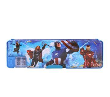 Captain America Pencil Box - Blue