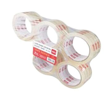Crystal Clear Packing Tape Low Noise - Transparent - 5pcs