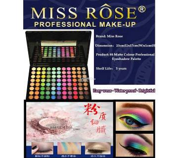 Miss Rose 88 Matte 3D Eyeshadow-98g-China