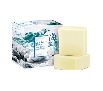 Sea Salt Soap Cleaner Removal Pimple Pores Acne Treatment Goat Milk Moisturizing Face Wash Soap Base Skin Care-100g-China