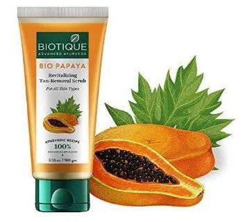 Biotique Papaya Visibly Flawless Skin Face Wash Scrub-100g-Bangladesh