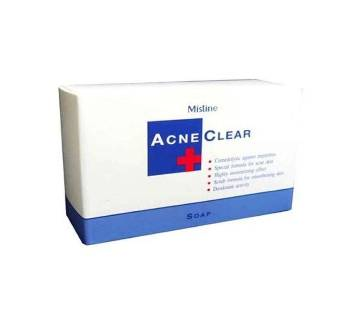 Comedolytic Acne Clear Soap Face and Body Anti Acne and Moisturizing Bar - 90g-Bangladesh