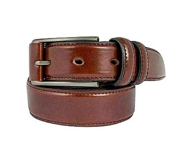 Brown Leather Belt for Men-CSB-54