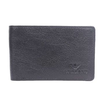 Black Leather Wallet For Men-CSW-2