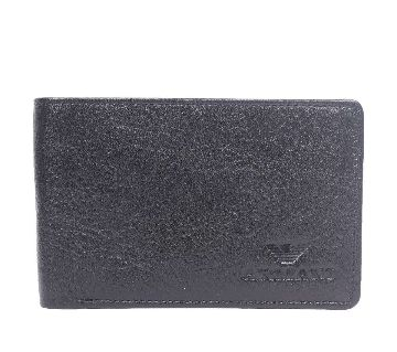 Black Leather Belt and Wallet For Men-CSW-2