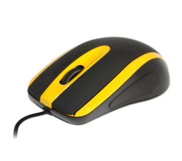 MS753 - Optical USB Mouse 1000 dpi - Black and Yellow