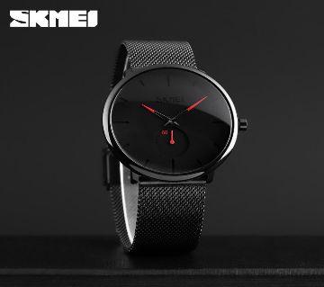 SKMEI 9185 Watch Simple Fashion Ultra-thin 30M Waterproof Quartz Watch For Men
