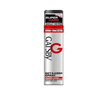 Gatsby hair spray for men-250ml-india