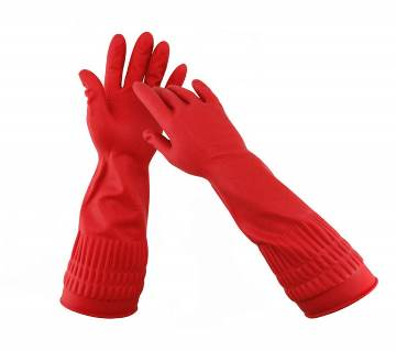 Hand kitchen gloves red