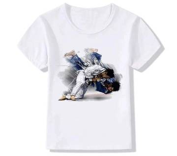 Half Sleeve Cotton T-Shirt For Men  - White