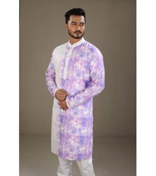 Boishakhi Cotton Punjabi for Men-Purple