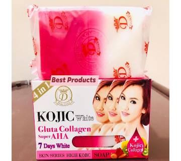 Kojic  Gluta Collagen Super AHA Soap-160gm-Thailand