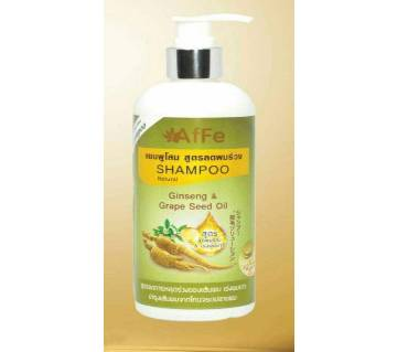 AfFe Shampoo  Ginseng  & Grape Seed Oil  Natural 220 ml Thailand