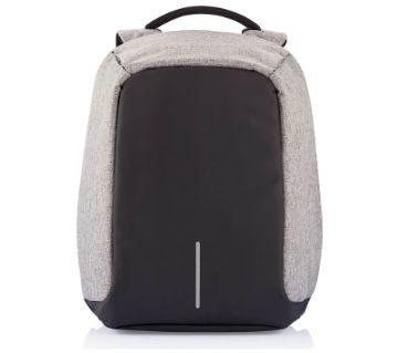 Anti Theft Backpack - Grey and Black