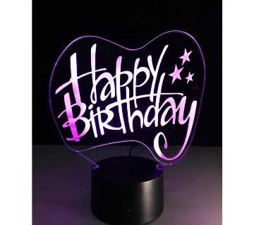 Beautiful LED Lamp - 29 - Happy Birthday