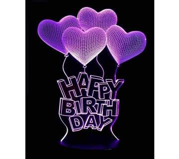 Beautiful LED Lamp - 13 - Happy Birthday