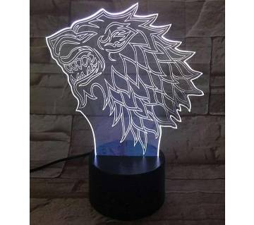 Beautiful LED Lamp - 12 - Lion Face