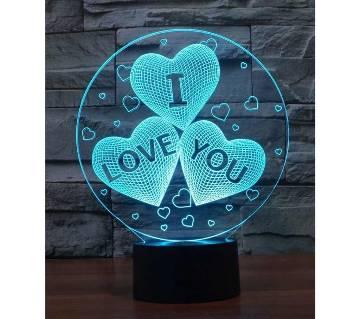 Beautiful LED Lamp - 10 - I Love You