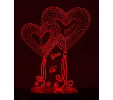 Beautiful LED Lamp - 04 - Love You