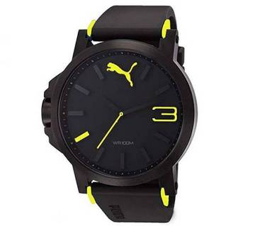 Black Yellow Sports Watch for Men