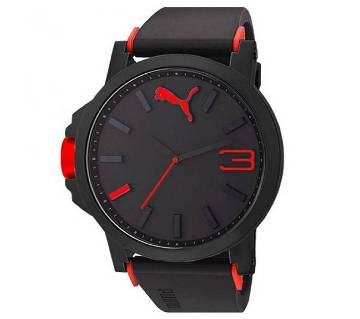 Puma Black Red Sports Watch for Men