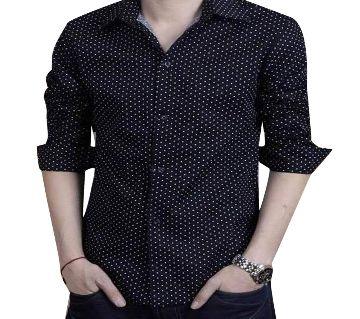 Black Ball Printed Formal Shirt for Men