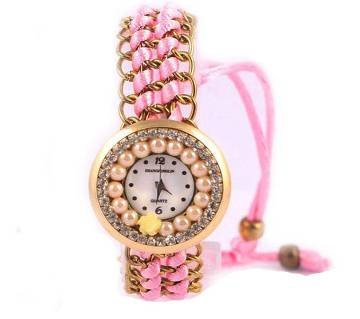 Ladies Bracelet type wrist Watch-Pink