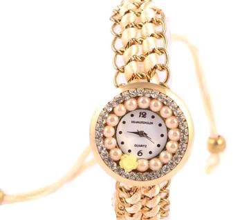 Ladies Bracelet type wrist Watch-Gold