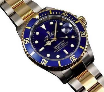 Rolex Wrist Watch For Men Blue Edition (Copy)