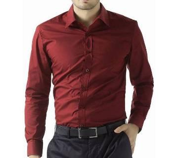 Light Maroon Formal Shirt for Men