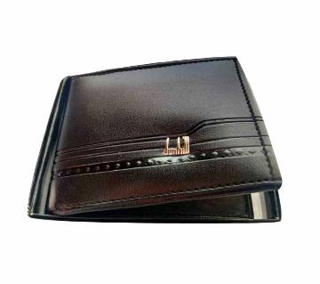 Wallet for men- Black artificial leather