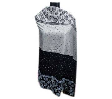 White & Black Block Shawl