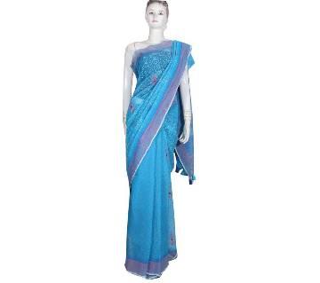 Bright Blue Half Slik Saree
