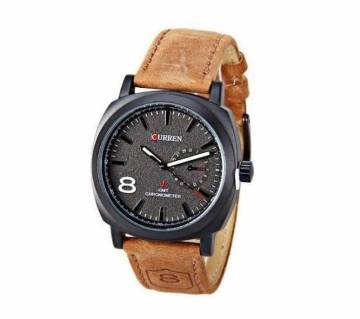 WB01 - Leather Analog Watch For Men