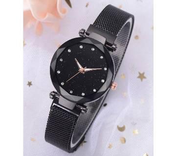 Starry Sky Belt Watch Women Magnet Strap Buckle Stainless Luxury Wrist Watch