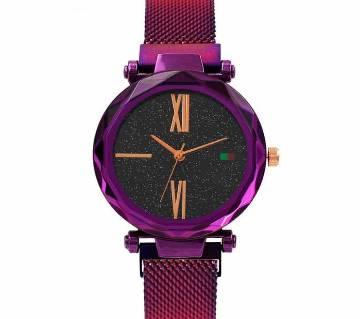 Starry Sky Women Wristwatch Magnetic Buckle Stainless Steel Mesh Belt Quartz Watches