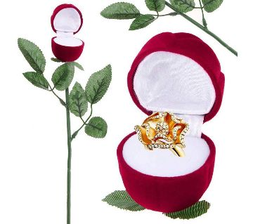 Valentines Day- Musical Attractive Ring Box Flower