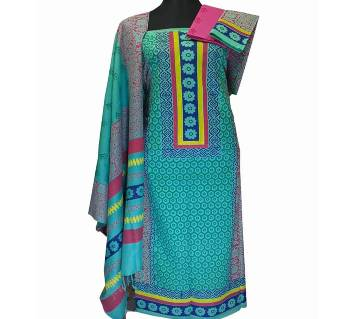 Unstitched Cotton Block Printed Salwar Kameez for Women